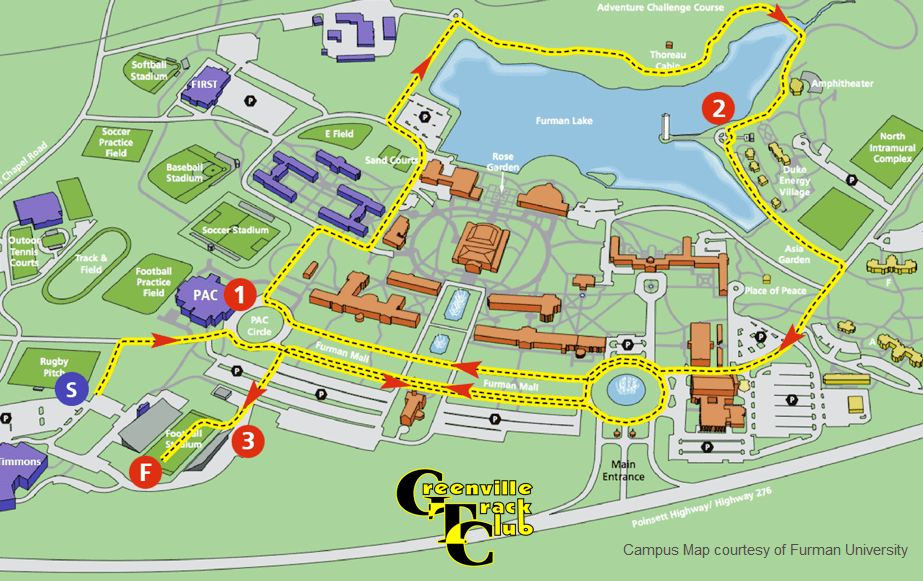 red-white-and-blue-shoes-5k-course-map Illiois Greenville College Campus Map on